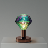 Medená kovová stolná lampa so žiarovkou DIAMANTE | Daylight Italia