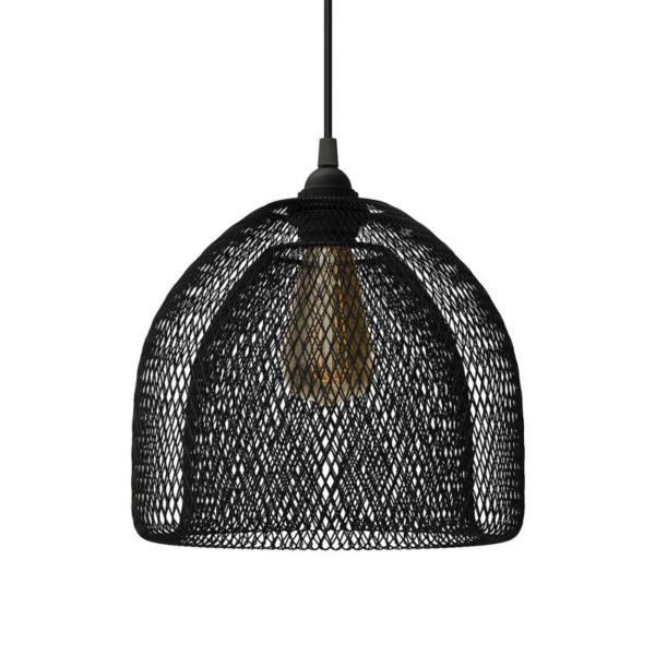 Moderná kovová veľká klietka XL, čierna farba,