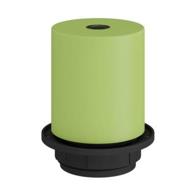 Pastelová kovová objímka pre tienidlo so skrytou káblovou svorkou vo svetlo zelenej farbe,