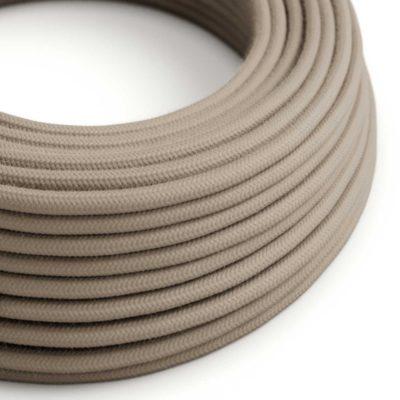 Elektrický kábel dvojžilový potiahnutý bavlnou v Dove farbe