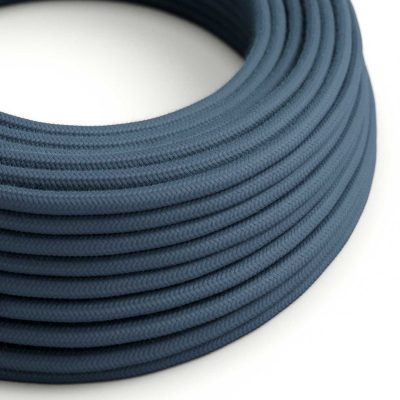 Elektrický kábel dvojžilový potiahnutý bavlnou v Kamennej šedej farbe, 2 x 0.75mm, 1 meter