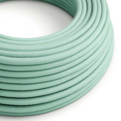 Elektrický kábel dvojžilový potiahnutý bavlnou v bledo mentolovej farbe, 2 x 0.75mm, 1 meter