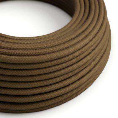 Elektrický kábel dvojžilový potiahnutý bavlnou v hnedej farbe, 2 x 0.75mm, 1 meter