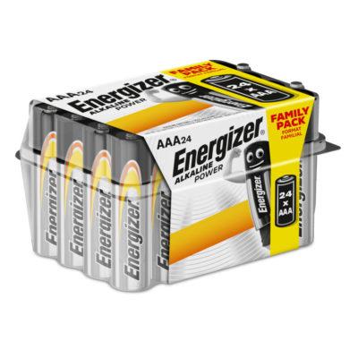 Energizer Alkalické mikrotužkové batérie Alkaline Power AAA, 24ks balenie
