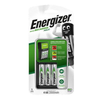 Energizer Nabíjačka Maxi + batérie 4 x AA Power Plus 2000 mAh