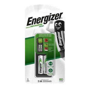 Energizer Nabíjačka Mini AA + batérie 2x AA Power Plus 2000 mAh