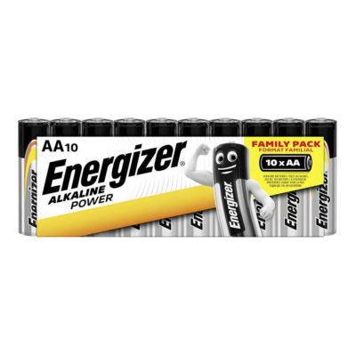 Energizer alkalické batérie Alkaline Power - Family Pack tužkové AA, 10ks balenie