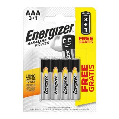 Energizer alkalické batérie Alkaline Power mikrotužkové AAA PROMO 3+1