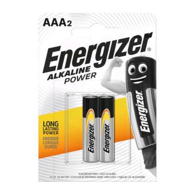 Energizer alkalické batérie Alkaline Power mikrotužkové AAA:2, LR03:2