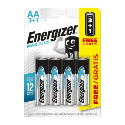 Energizer alkalické batérie Max Plus tužkové AA, LR6, FSB4, PROMO 3+1