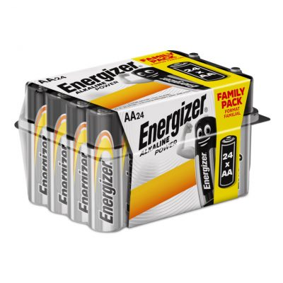 Energizer alkalické tužkové batérie Alkaline Power AA, 24ks balenie