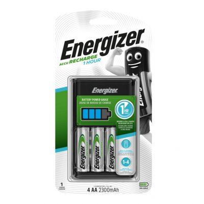 Energizer nabíjačka 1HR Charger + batérie 4 x AA 2300 mAh