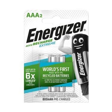 Energizer nabíjateľné batérie Extreme mikrotužkové AAA, HR03, FSB2, 800 mAh