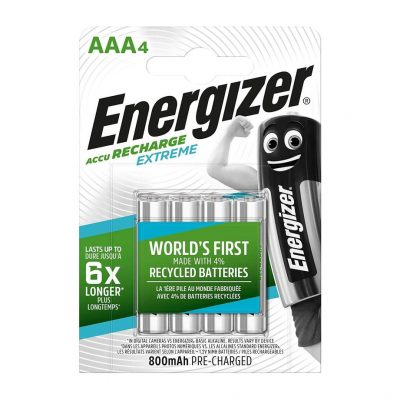 Energizer nabíjateľné batérie Extreme mikrotužkové AAA, HR03, FSB4, 800 mAh