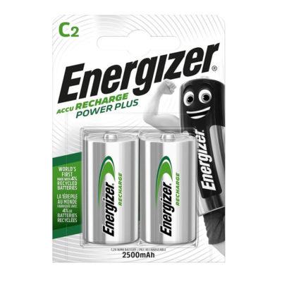 Energizer nabíjateľné batérie Power Plus C malý monočlánok HR14, FSB2, 2500 mAh