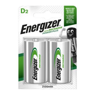 Energizer nabíjateľné batérie Power Plus D veľký monočlánok HR20, FSB2, 2500 mAh