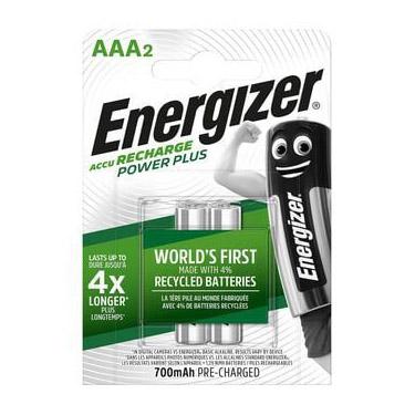 Energizer nabíjateľné batérie Power Plus mikrotužkové AAA, 700 mAh