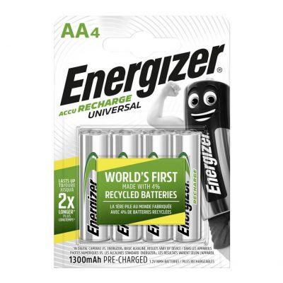 Energizer nabíjateľné batérie Universal tužkové AA, HR6, FSB4, 1300 mAh