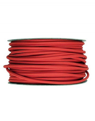 Kábel dvojžilový v podobe textilnej šnúry v červenej farbe, 2 x 0.75mm