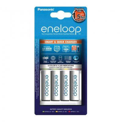 Panasonic Eneloop Nabíjačka BQ-CC55 + batérie 4 x R6:AA Eneloop 2000mAh