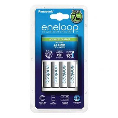 Panasonic Eneloop Nabíjačka + batérie 4 x R6:AA Eneloop 2000mAh