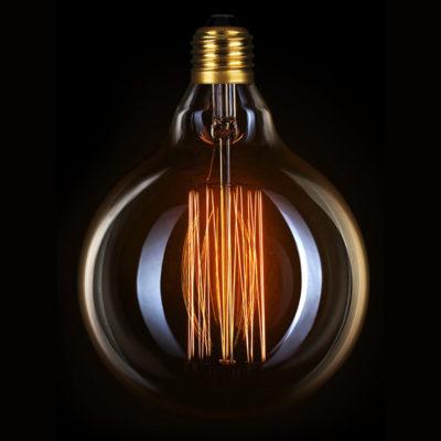 Žiarovka v retro štýle, DECOR EDISON G125, E27, 40W, 200lm