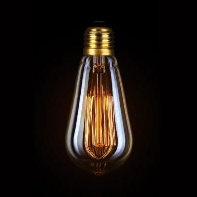 Žiarovka v retro štýle, DECOR EDISON ST58, E27, 40W, 200lm.