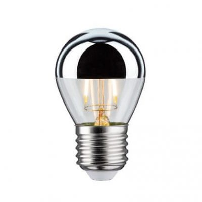 Zrkadlová dekoračná žiarovka 4W, E27, 400lm, MINI, Strieborná