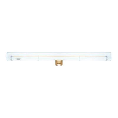 Priehľadná LED žiarovka S14d, 30 cm, Teplá biela, 350lm, Stmievateľná
