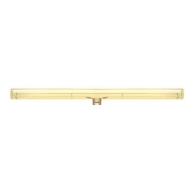 Zlatá LED žiarovka S14d, 50 cm, Teplá biela, 12W, 440lm, Stmievateľná