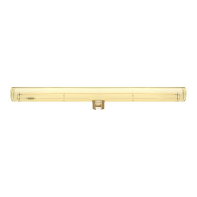 Zlatá LED žiarovka S14d, 30 cm, Teplá biela, 8W, 300lm, Stmievateľná